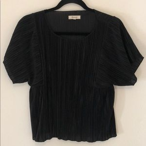 Madewell Accordian Pleated Blouse